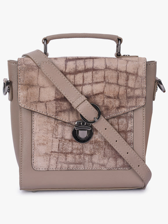 Phive Rivers Women's Grey Leather Sling Bag