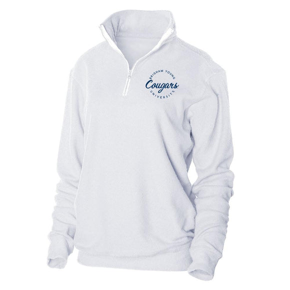 Official NCAA Brigham Young Cougars - RYLBYU04 Herrington Fleece 1/4 Zip Up Sweatshirt