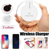 Ultra-thin QI Wireless Charge Phone Wireless Charger Charging Pad for IPhoneX/8/8Plus/for Galaxy S9/S8/S6/S7 Edge/S8 Plus/S9 Plu