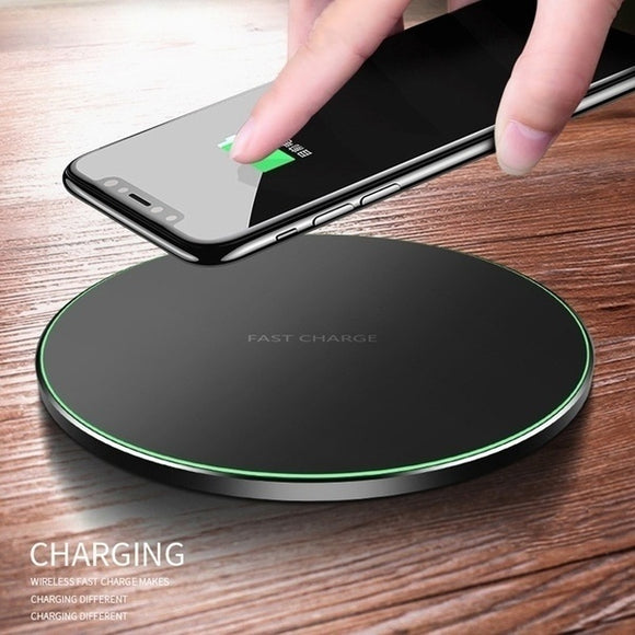 High Quality Qi Wireless Charger for IPhone X 8 Plus Samsung Galaxy Note 8 S9 S8 S7 S6 Edge Desktop Fast Wireless Charging Pad B