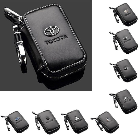 Car Key Holder Case Key Chain Wallet Bag Cover Fobs for For Toyota Hyundai Peugeot Nissan and Other All Cars
