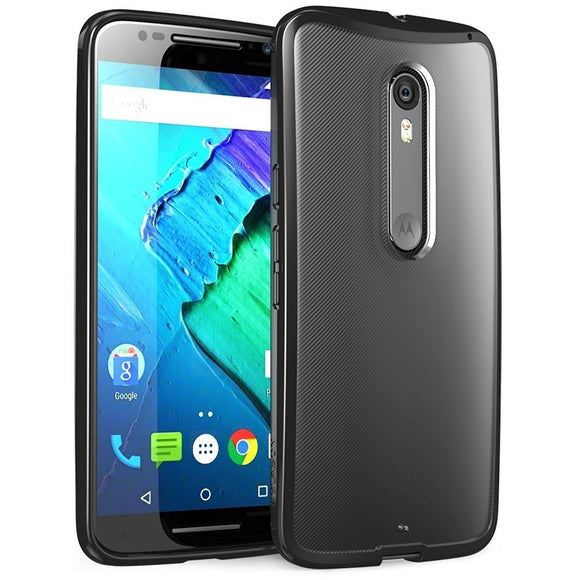 i-Blason Motorola Moto X Pure (Moto X Style) Case - Halo Series Scratch Resistant Clear Case - Clear Black