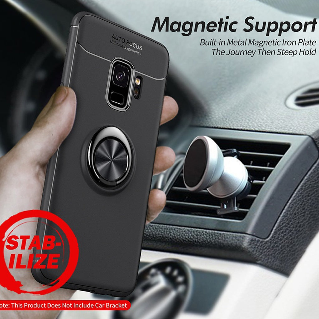 360 Rotating Finger Ring Case Magnetic Car Holder Cover for Samsung Galaxy  S9/S9 Plus/S8/S8 Plus/Note 8,for iPhone Series Phone