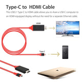 Type C to HDMI HDTV AV TV Cable Adapter for Samsung Galaxy S8 S9 S9+ Note 9 PC
