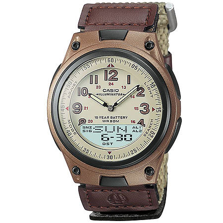 Brown Casual Sports Watch with Cloth Band