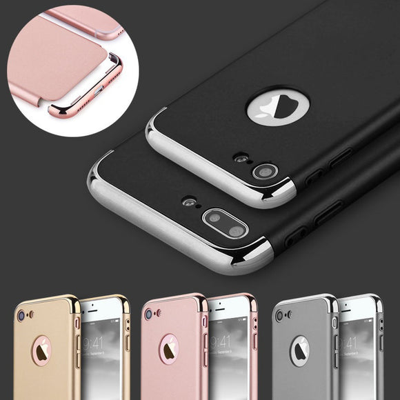 Luxury Electroplate Bumper Back Case Skin For iPhone X / 8 / 8 Plus / 7 / 7 Plus / 6 / 6 Plus / 6s / 6s Plus / Samsung Galaxy S