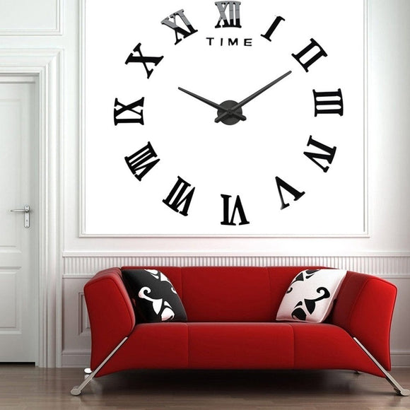 Modern 3D Frameless Large Wall Clock Style Watches Hours DIY Room Home Decorations Model MAX3