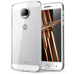 Moto Z Droid Case, Scratch Resistant, i-Blason Clear Halo Series for Motorola Moto Z 2016 Release- Clear