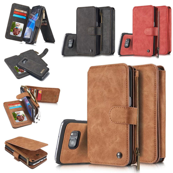 Multifunctional Wallet Leather Card Slot Holder Flip Case For iPhone X / 8 / 8 Plus / 7 / 7 Plus / 6 / 6 Plus / 6s / 6s Plus / 5