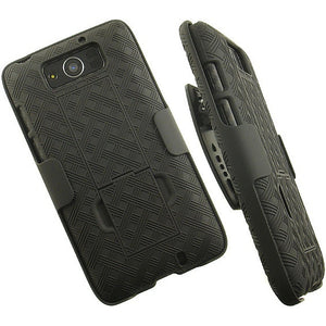 BLACK CASE BELT CLIP HOLSTER STAND FOR MOTOROLA DROID MAXX XT1080M ULTRA XT1080