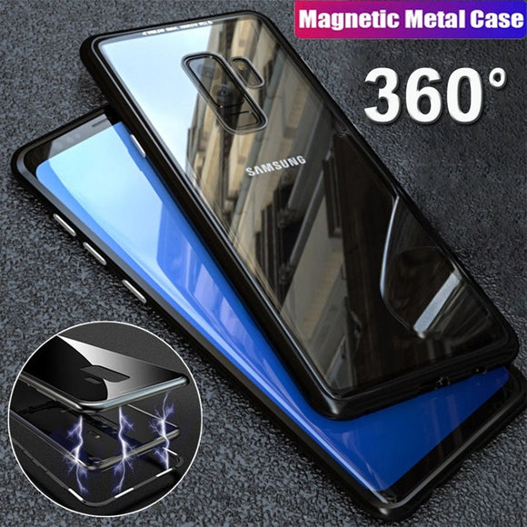 Magnetic Absorption Tempered Glass Case for Samsung Galaxy S10 S10plus Note9 8 S7edge S8 S9 Plus