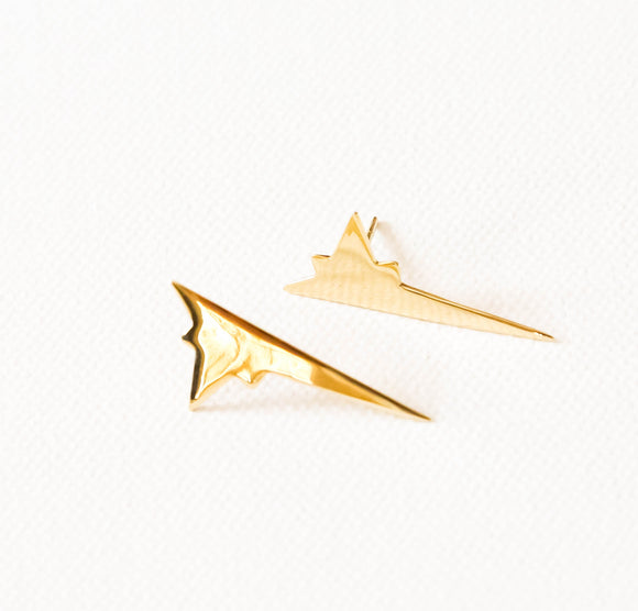 Shooting star large earrings