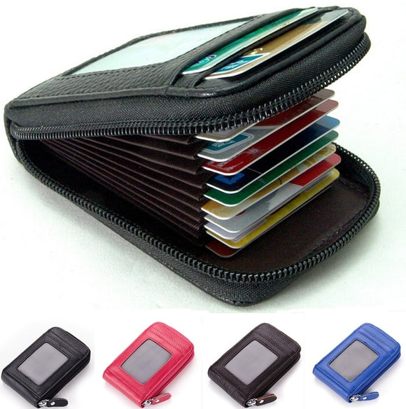 New Fashion Men's/Women's Mini Leather Wallet ID Credit Cards Holder Purse WIZH
