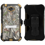 AUTUMN LEAF TREE CAMO TRI-SHIELD CASE BELT CLIP HOLSTER FOR MOTOROLA DROID TURBO