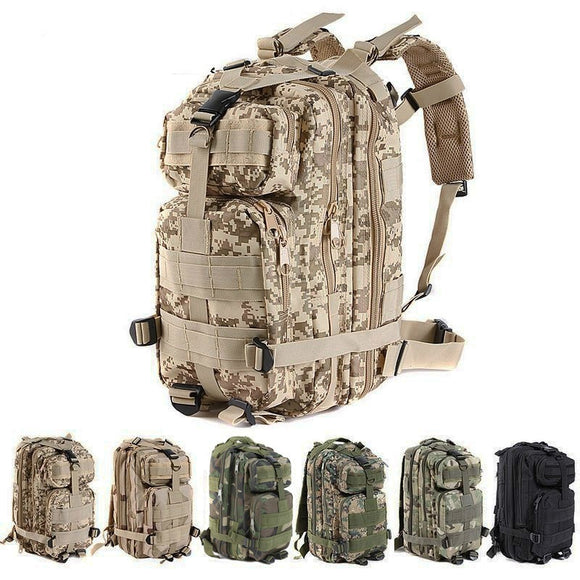 US Army 3P Tactical Backpack Outdoor Travel camping Riding Hiking Double-shoulder Pack Bag 7 colors