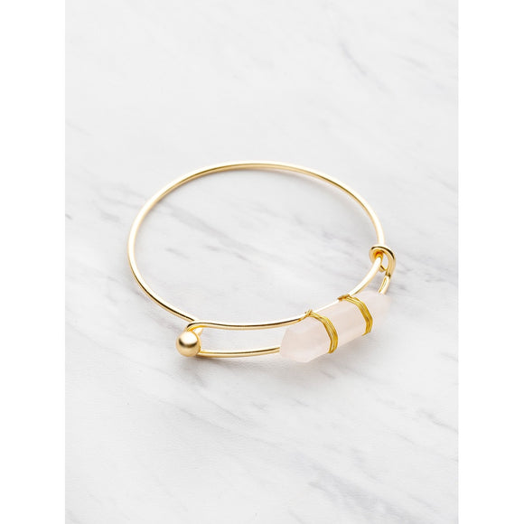 Random Color Crystal Adjustable Bangle