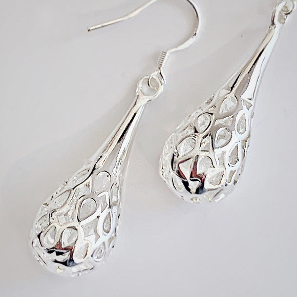 Dewdrop Sterling Silver Earrings
