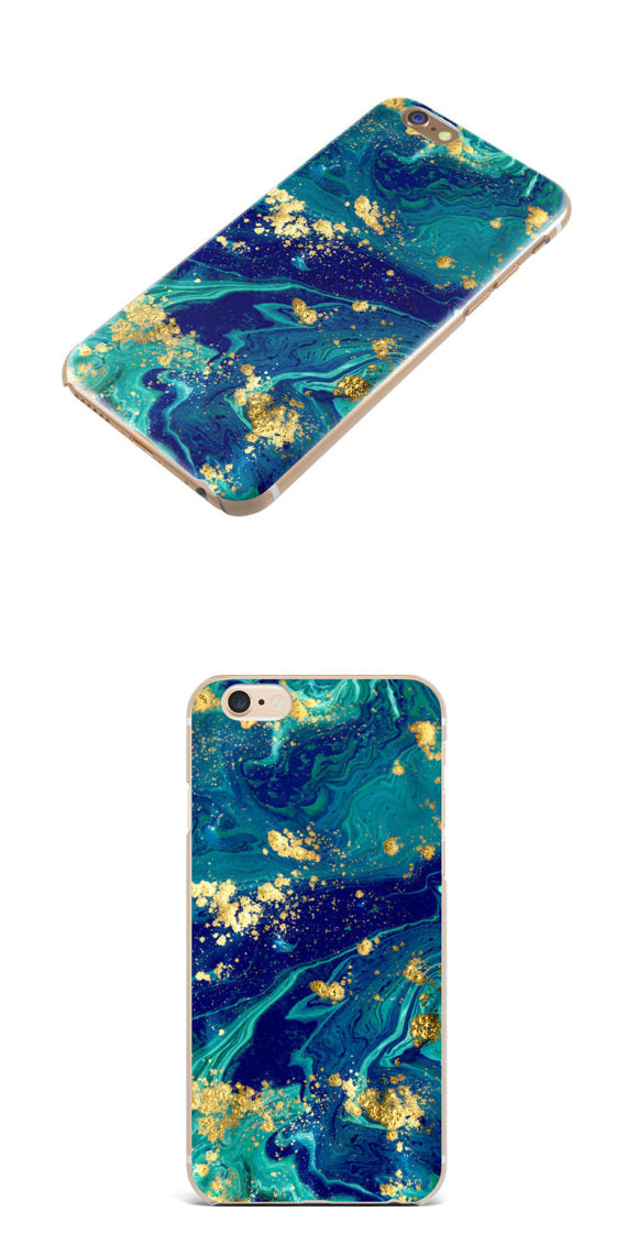 Gold Mineral Stone iPhone 7 Case, iPhone 6 Case , iPhone Cases, Samsung Cases, Galaxy S7 Case, Galaxy S7 Edge, Cell Phone - 83