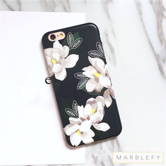 Floral phone case, white flower, dahlia, Amaryllis, iphone 6 case, iphone 6 plus case, iphone 7 case, iphone 7 plus case, 8 , 8 plus