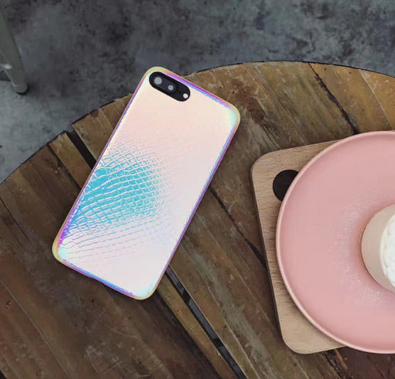 holographic mermaid phone case, holo, iPhone 6, iPhone 7, iphone 7 plus, iphone 6 plus, 8, 8 plus, reflective,mermaid tail scale, rainbow