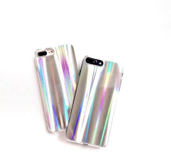 holographic phone case, holo, iPhone 6, 6 plus, 7 , 7 plus, reflective, chrome, rainbow, shiny, pearlized, iridescent, multicolor, unicorn