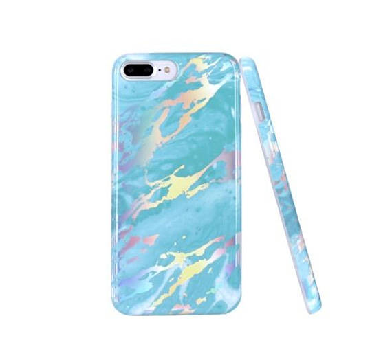 turquoise marble case,blue marble phone case, metallic, holographic, reflective, iphone 6, 6s, 6 plus, 6s plus, 7, 7 plus, 8 , 8 plus