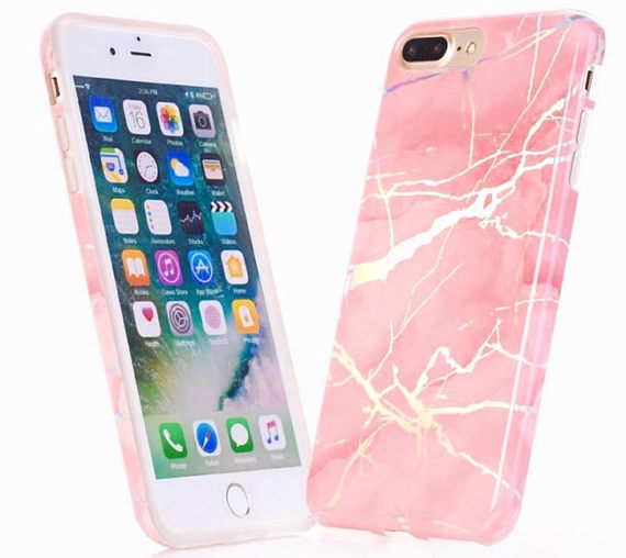 hot sales f7cf6 7c62f pink marble holographic phone case, metallic, coral, iphone 6,6 plus, 6s,  6s plus, 7, 7 plus, 8, iphone 8 plus case,cotton candy, peach rose