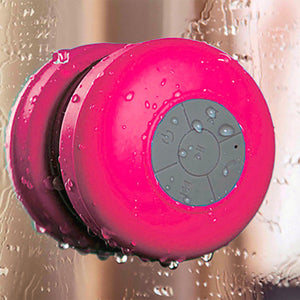 Bluetooth Waterproof Wireless Shower Handsfree Mic Suction Chuck Speaker Pink
