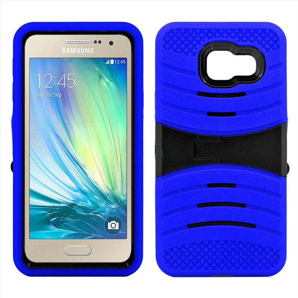 Samsung Galaxy A3 Hybrid Silicone Case Cover Stand Blue