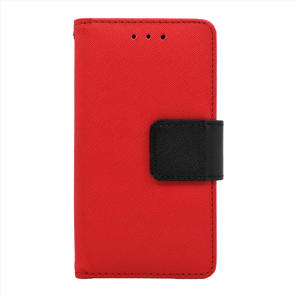 Samsung Galaxy A7 Leather Wallet Pouch Case Cover Red