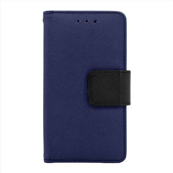 Samsung Galaxy A8 Leather Wallet Pouch Case Cover Blue