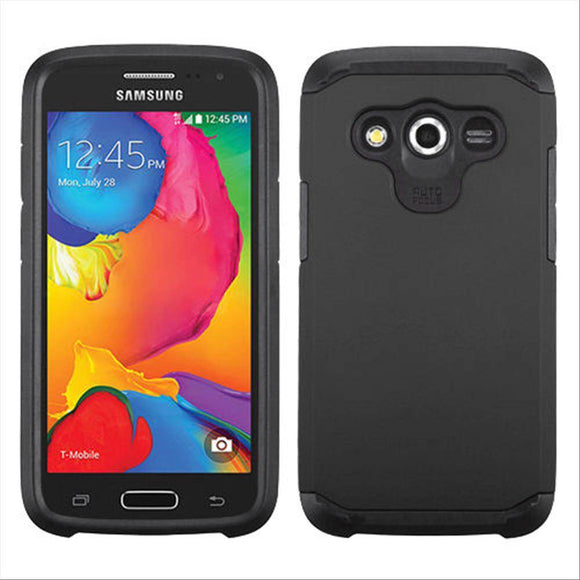 Samsung Galaxy Avant G386T TPU Slim Rugged Hard Case Cover Black