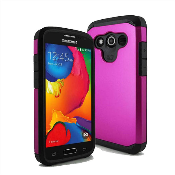 Samsung Galaxy Avant G386T TPU Slim Rugged Hard Case Cover Pink
