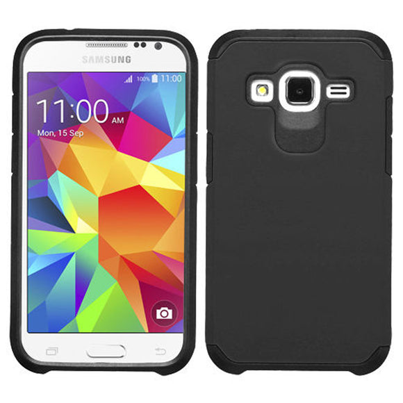Samsung Galaxy Core Prime Prevail LTE / G360 TPU Slim Rugged Hard Case Cover Black