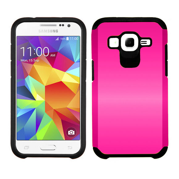 Samsung Galaxy Core Prime Prevail LTE / G360 TPU Slim Rugged Hard Case Cover Pink