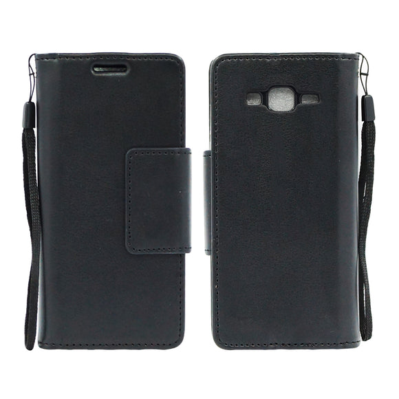 Samsung Galaxy Core Prime Prevail LTE / G360 Wallet Pouch Case Cover Black