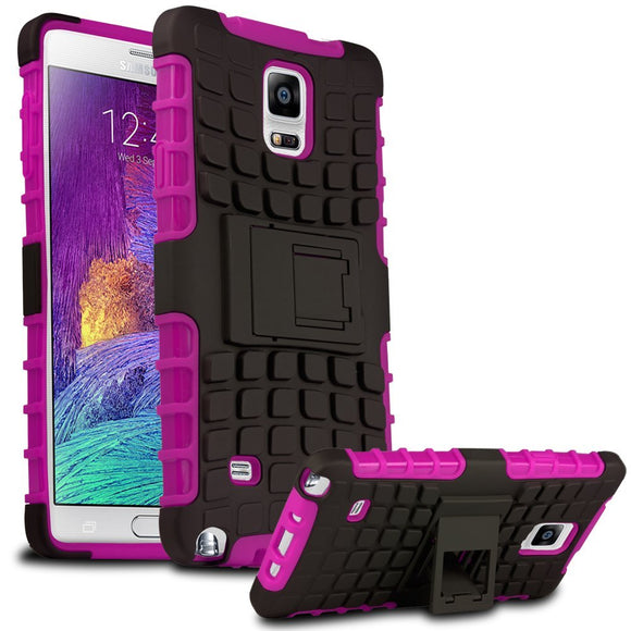 Samsung Galaxy Note 4 SM-N910S TPU Slim Rugged Hybrid Stand Case Cover Pink