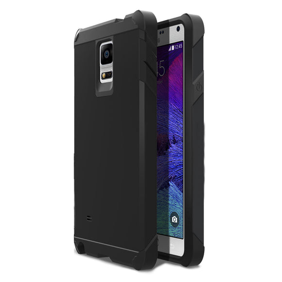 Samsung Galaxy Note 4 SM-N910S TPU Slim Rugged Hard Case Cover Black