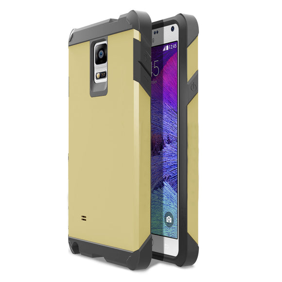 Samsung Galaxy Note 4 SM-N910S TPU Slim Rugged Hard Case Cover Gold