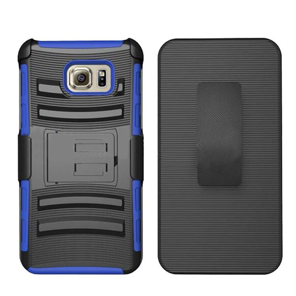 Samsung Galaxy Note 5 Armor Belt Clip Holster Case Cover Blue
