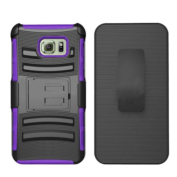 Samsung Galaxy Note 5 Armor Belt Clip Holster Case Cover Purple