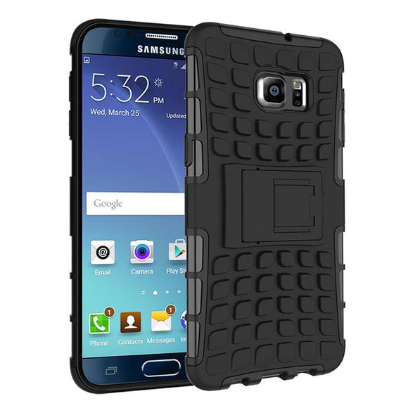 Samsung Galaxy Note 5 TPU Slim Rugged Hybrid Stand Case Cover Black