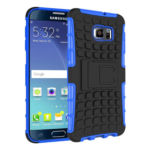 Samsung Galaxy Note 5 TPU Slim Rugged Hybrid Stand Case Cover Blue
