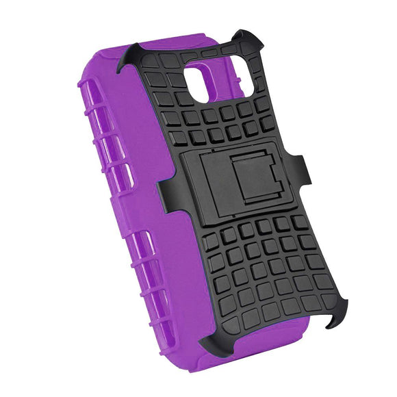 Samsung Galaxy Note 5 TPU Slim Rugged Hybrid Stand Case Cover Purple
