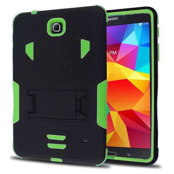 Samsung Galaxy Tab 4 8.0 / T330 Impact Silicone Case Dual Layer with Stand Green