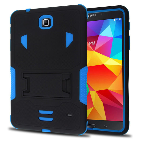 Samsung Galaxy Tab 4 8.0 / T330 Impact Silicone Case Dual Layer with Stand Blue