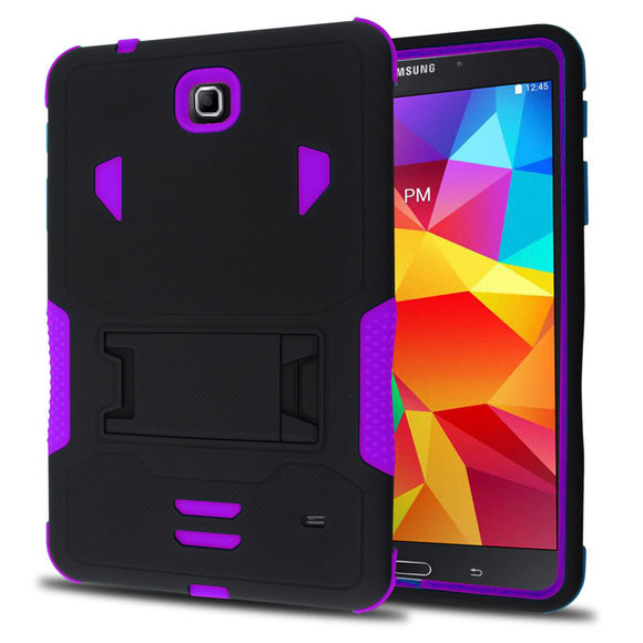 Samsung Galaxy Tab 4 8.0 / T330 Impact Silicone Case Dual Layer with Stand Purple