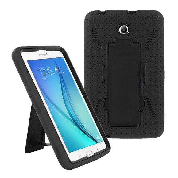Samsung Galaxy Tab A 8.0 / T350 / T355 Hybrid Silicone Case Cover Stand Black