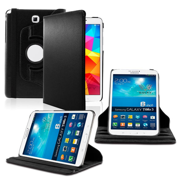 Samsung Galaxy Tab A 8.0 / T350 / T355 360 Rotating Leather Cover Black