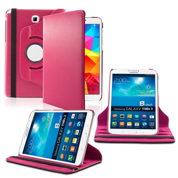 Samsung Galaxy Tab A 8.0 / T350 / T355 360 Rotating Leather Cover Pink